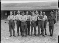 The winning New Zealand men's tug-o-war team, Etaples, France