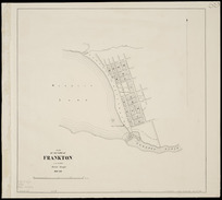 Plan of the town of Frankton [cartographic material] / C.B. Shanks, district surveyor, Mar. 1863 ; J. Douglas delt.