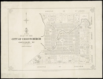 Plan of the city of Christchurch, Canterbury, N.Z. [cartographic material] / drawn by J. Kelly.