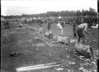 The wood chopping competition at the New Zealand Base Depot Sports, Etaples
