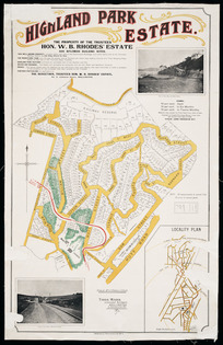 Highland Park Estate [cartographic material] : the property of the Trustees [of] Hon. W.B. Rhodes' Estate / T. Ward, surveyor.