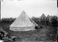 An Auckland Battalion marching into camp, Louvencourt