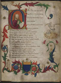 First page of Book I with historiated initial