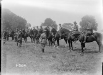 Judging the Officers' Charger Class, Courcelles, World War I