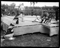 A knock down at the New Zealand Division boxing championships, France