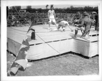 Boxing match at the New Zealand Divisional boxing championships in France during World War I
