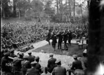 An open air vaudeville performance during World War I