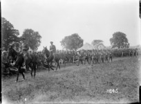 The march past of winners at a New Zealand Infantry Brigade competition, France