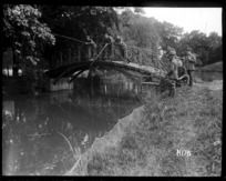 New Zealand officers find fishing peaceful after the line in World War I