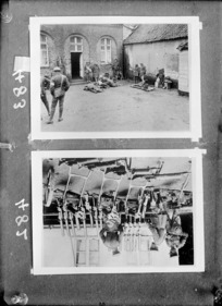 Two photographs of New Zealand soldiers in France, during World War I