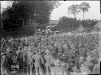 An evening performance of the 'Kiwis' during World War I, Louvencourt