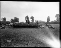Horse jumping at the New Zealand Division sports day in France, during World War I