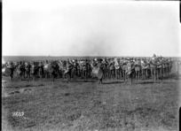 The massed bands of a New Zealand Infantry Brigade in France during World War I