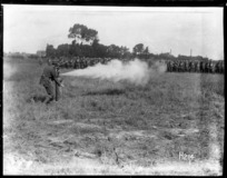 Training New Zealand troops to cope with poisonous gas attacks during World War I
