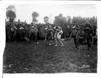 A race in progress at the New Zealand Division sports day in France, during World War I