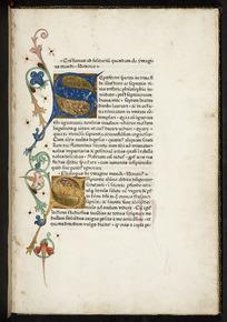 Cristianus ad solitariu[m] quendam de ymagine mundi. / Honorio ...