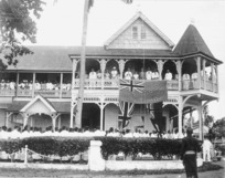 [Raising the New Zealand flag, Apia, Western Samoa]
