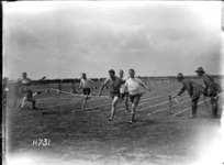 The finish of the 100 yards race, Authie, France