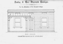 Findlay & Co. :Findlay and Co's illustrated catalogue. No. 8. Elevation of five roomed cottage. Scale 1/4 inch to a foot. Prices for material on application. [1874]
