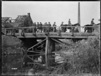 A bridge constructed by New Zealand Engineers during World War I, France