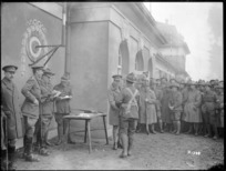 The Prince of Wales presenting prizes at a rifle meeting, New Zealand Rifle Brigade Headquarters, Bruck, Germany