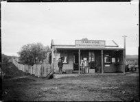 Te Mata General Store, near Raglan, 1910 - Photograph taken by Gilmour Brothers