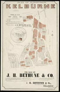 Plan of sub-division of Kelburne [cartographic material] / E.W. Seaton, surveyor.