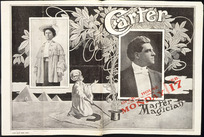 Carter, Master magician, Opera House, Monday Feb[ruary] 17, [1908. Programme cover double spread].