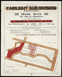 Plan of the Fairlight Sub-division, Wadestown [cartographic material] / Thomas Ward [surveyor].
