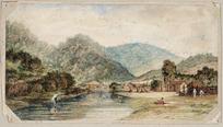 [Brees, Samuel Charles] 1810-1865 :[Ngauranga gorge and stream. ca 1843]