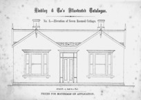 Findlay & Co. :Findlay and Co's illustrated catalogue. No. 3. Elevation of seven roomed cottage. Scale 1/4 inch to a foot. Prices for material on application. [1874]