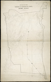 Plan of the Rakaia and Ashburton Forks District [cartographic material].