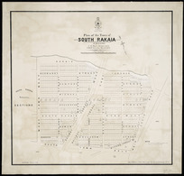 Plan of the town of South Rakaia [cartographic material] / [surveyed by] F.W. Moore, October 1873, T.M.H. Johnston, March 1879.