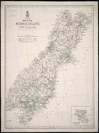 Map of the North Island, New Zealand [cartographic material] ; Map of the Middle Island, New Zealand.