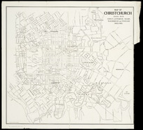 Map of Christchurch [cartographic material] : issued with Stone's Canterbury, Nelson, Marlborough and Westland directory.