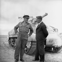 Frederick Jones, Defence Minister of New Zealand, with Brigadier Lindsay Inglis in Maadi