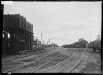 Huntly Railway Station and railway yards