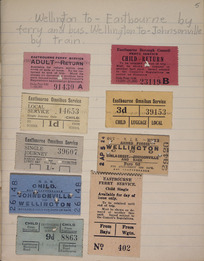 [Tickets] :Wellington to Eastbourne by ferry and bus. Wellington to Johnsonville by train. [1930-1940s].