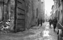 A M Miller (Photographer) : Street in Faenza, Italy, with members of the 26th Battalion