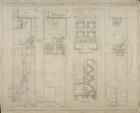 Martin, Cyril Alphonsus, fl 1920s-1930s :Proposed building, Manners Street, for Messrs. G H Thornton & Co Ltd. 6 July 1928. Ground plan. 1st & 2nd floor plan. Manners St elevation. Section. Roof plan.