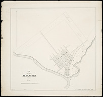 Plan of the town of Alexandra [cartographic material] / J.A. Connell, surveyor, Mar. 1863.