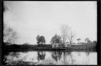 Waipa River at Ngaruawahia, 1910 - Photograph taken by Robert Stanley Fleming