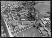Intersection of State Highway 1 with Fanshawe and Beaumont Streets, Freemans Bay, Auckland