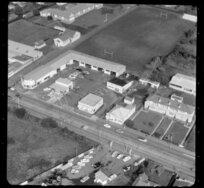 Otahuhu Primary School and petrol station, Great South Road, Otahuhu, Auckland