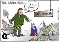 Walker, Malcolm, 1950- :The Gardener... 'one of those please..' Sunday News, 9 August 2002.