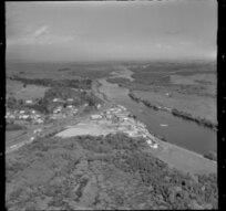 Mercer, Franklin District, featuring the sand quarry, and Waikato River