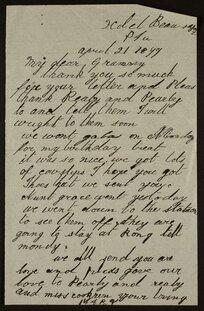 Letter - Mary Selwyn