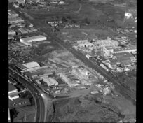Factories, including Fibrolite, in industrial area, Otahuhu, Manukau City, Auckland