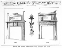 Tonson Garlick Co :[Wooden mantelpieces and fire surrounds. ca 1910].