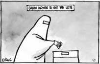 Evans, Malcolm Paul, 1945- :Saudi women get the vote. 27 September 2011